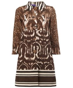 Herno | Animal Print Buttoned Coat