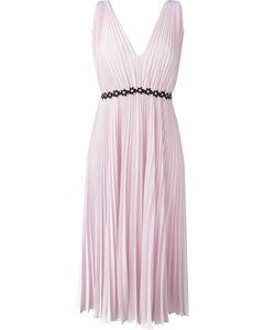 GIAMBA | Embroidered Waist Pleated Dress