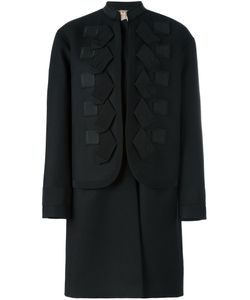 No21 | Многослойное Пальто С Аппликацией
