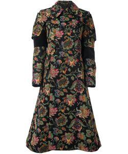 Comme Des Garcons | Двубортное Пальто С Цветочным Рисунком