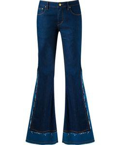 Amapô | Frayed Overlay Flared Jeans