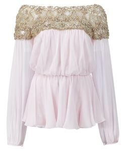 Marchesa | Блузка С Декорированным Верхом