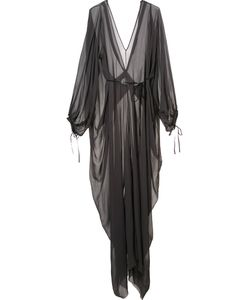 Isabel Benenato | Draped Sheer Dress