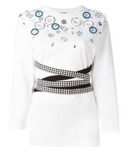 Miu Miu | Glass Embellished Fitted T-Shirt Size Medium