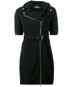 Jeremy Scott | Zipped Shoulders Belted Dress Polyester/Other