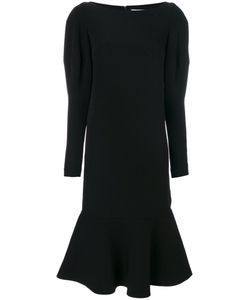 Si Jay | Double Crepe Puffed Sleeves Dress Women