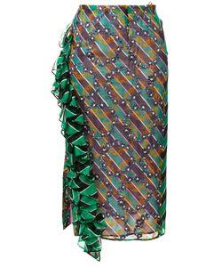 Marco De Vincenzo | Ruffle Striped Skirt