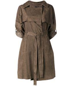 Giorgio Brato | Cropped Sleeve Belt Coat Size 42