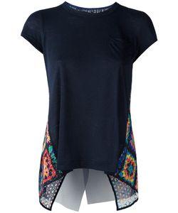 Sacai | Crochet Insert T-Shirt Womens Size 3 Linen/Flax/Polyester/Cotton