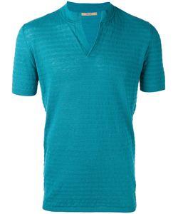 Nuur | Slit Neck T-Shirt 48 Cotton/Linen/Flax