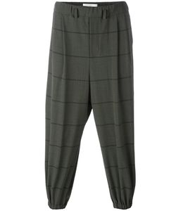 Lucio Vanotti | Striped Elasticated Trousers 4 Polyester/Wool/Spandex/Elastane/Cotton