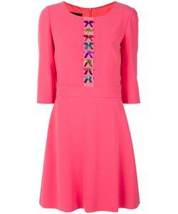 BOUTIQUE MOSCHINO | Расклешенное Платье С Вышивкой