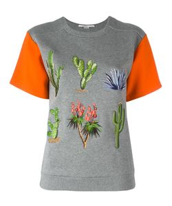 Stella Mccartney | Embroide T-Shirt 42 Cotton/Viscose/Acetate/Spandex/Elastane