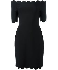 Fendi | Scallop Off-Shoulder Dress