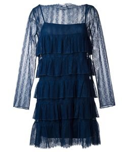 Twin-set | Ruffled Lace Dress 42 Polyamide