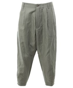 08SIRCUS | Cropped Loose-Fit Trousers 4 Linen/Flax/Nylon