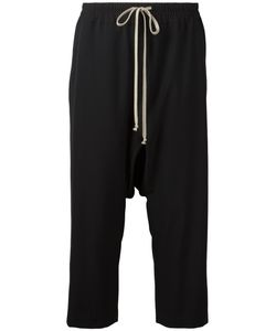 Rick Owens | Drop-Crotch Cropped Trousers 42 Viscose/Virgin Wool/Cotton