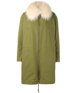 ARMY YVES SALOMON | Raccoon Fur-Trimmed Parka 42 Cotton/Polyamide/Polyester/Duck