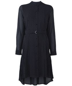 Michael Michael Kors | Micro Polka Dot Print Shift Dress With D-Ring