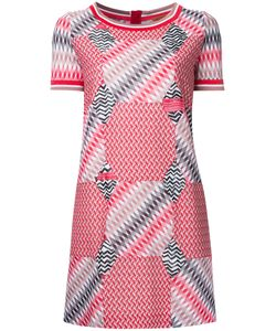 Missoni | Geometric Pattern T-Shirt Dress 46 Cotton/Viscose