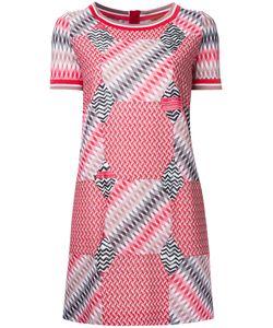 Missoni | Geometric Pattern T-Shirt Dress 46 Cotton/Viscose