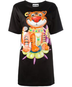 Moschino | Bejewelled Tiger T-Shirt Dress 36 Rayon/Acetate/Other Fibers