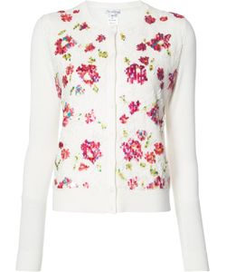 Oscar de la Renta | Embroide Flowers Cardigan Small