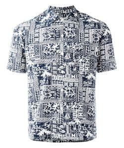 SALVATORE PICCOLO | Printed Shorsleeved Shirt 39 Cotton/Rayon