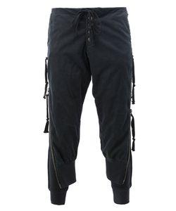 GREG LAUREN | Side Zip Lounge Pants 4 Cotton/Rayon