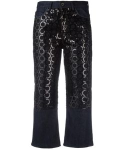 Diesel Black Gold | Sequin Embroidery Cropped Jeans 25