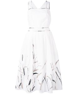 Blumarine   Leaf Print Flared Dress