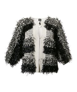 Zero + Maria Cornejo | Collarless Jacket Medium/Large Silk/Spandex/Elastane/Cotton