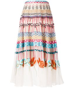 Temperley London | Printed Pleated Skirt 12 Silk/Spandex/Elastane