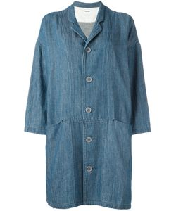 Plantation | Oversized Pockets Denim Coat Small Cotton