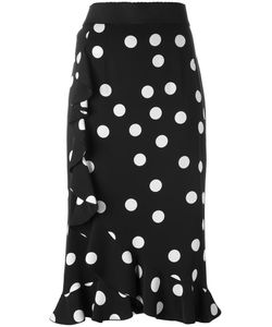 Dolce & Gabbana | Polka Dot Skirt 48 Silk/Spandex/Elastane