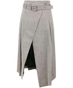 Eleventy | Wrap Skirt 44 Virgin Wool/Spandex/Elastane/Polyester/Acetate
