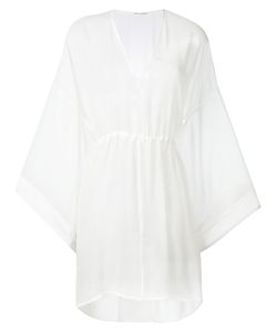 Isabel Benenato | Flared Sleeves Sheer Dress 40