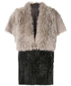Eleventy | Пальто Из Овчины С Короткими Рукавами
