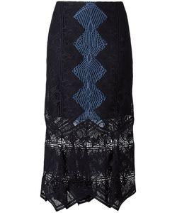 Jonathan Simkhai | Panel Applique Lace Trumpet Skirt 6 Polyester/Spandex/Elastane/Silk/Nylon