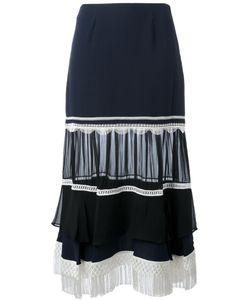 Jonathan Simkhai | Fringe A-Line Skirt 4 Silk