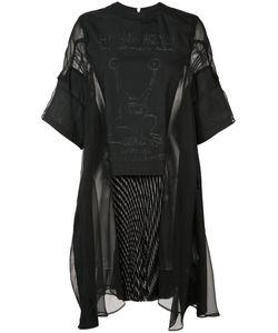 Sacai | Платье С Прозрачными Панелями