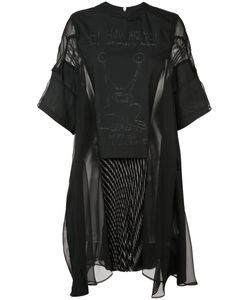 Sacai   Sheer Panel Dress Size