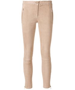 Arma | Zip Pocket Skinny Trousers Women Cotton/Spandex/Elastane/Lamb Nubuck