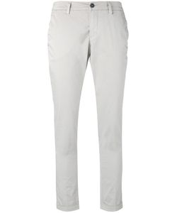 Fay | Folded Hem Cropped Trousers 28 Cotton/Spandex/Elastane