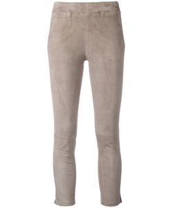 Arma | Cropped Trousers 42 Cotton/Spandex/Elastane/Lamb Nubuck Leather