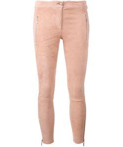 Arma | Zipped Legs Cropped Trousers 32 Cotton/Spandex/Elastane/Lamb Nubuck