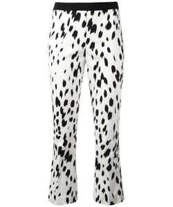 Twin-set | Brush Print Cropped Trousers 46 Cotton/Spandex/Elastane
