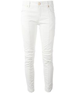 Pierre Balmain | Ribbed Detail Cropped Jeans 27 Cotton/Spandex/Elastane