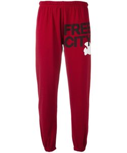 Free City | Freecity Logo Print Sweatpants Small Cotton