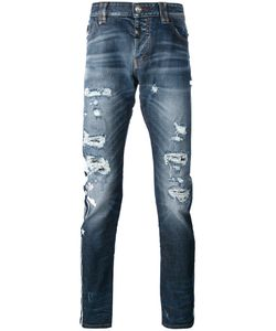 Philipp Plein | Distressed Slim-Fit Jeans